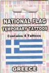 Greece Country Flag Tattoos.